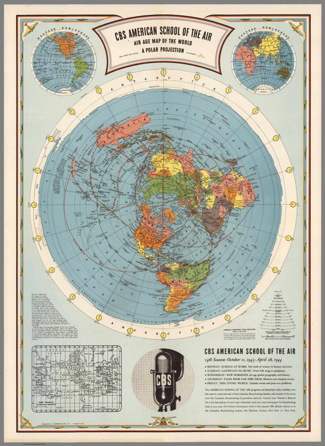 CBS American School of the Air, Air Age Map of the World, A Polar