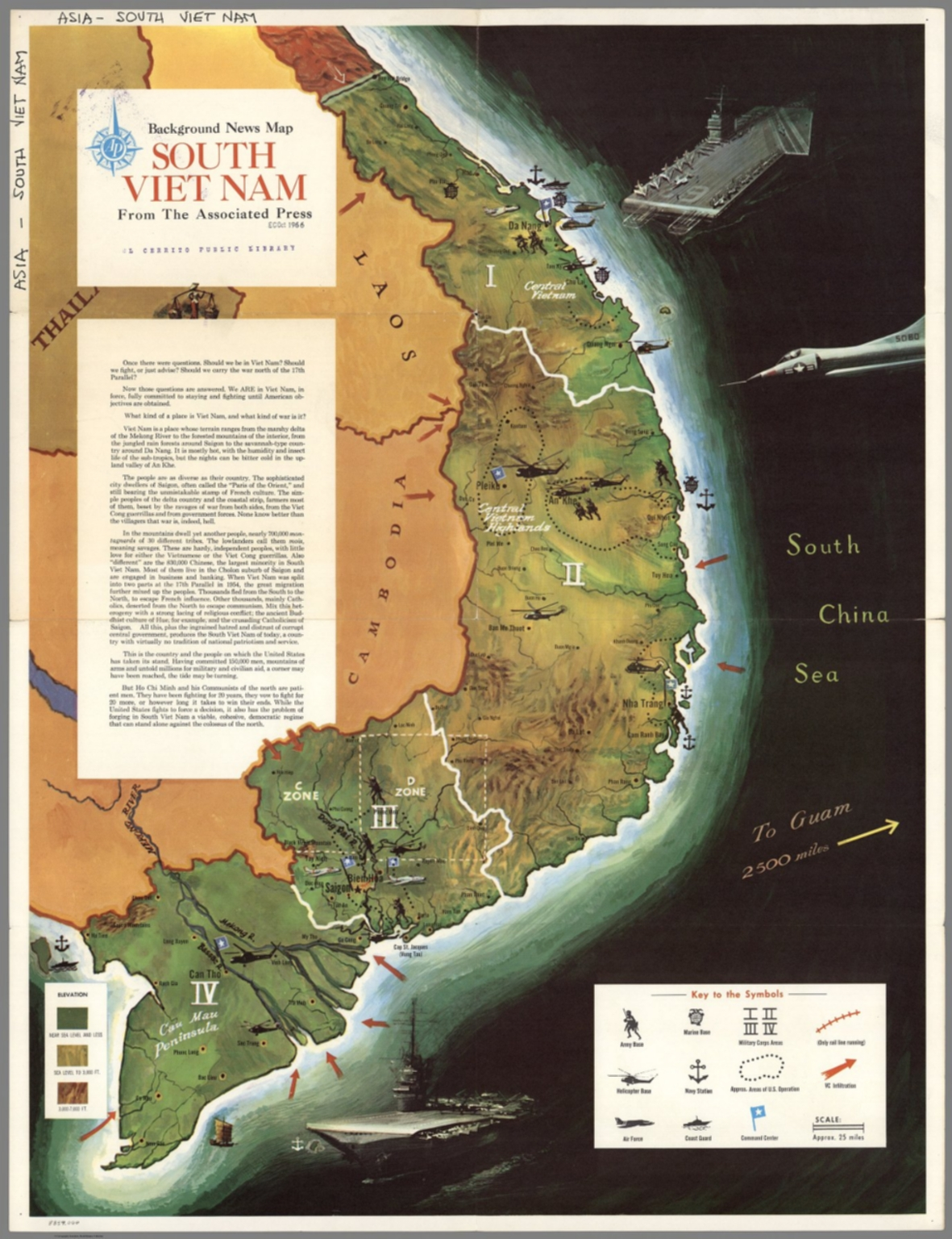 Background News Map South Vietnam From The Associated Press. - David ...