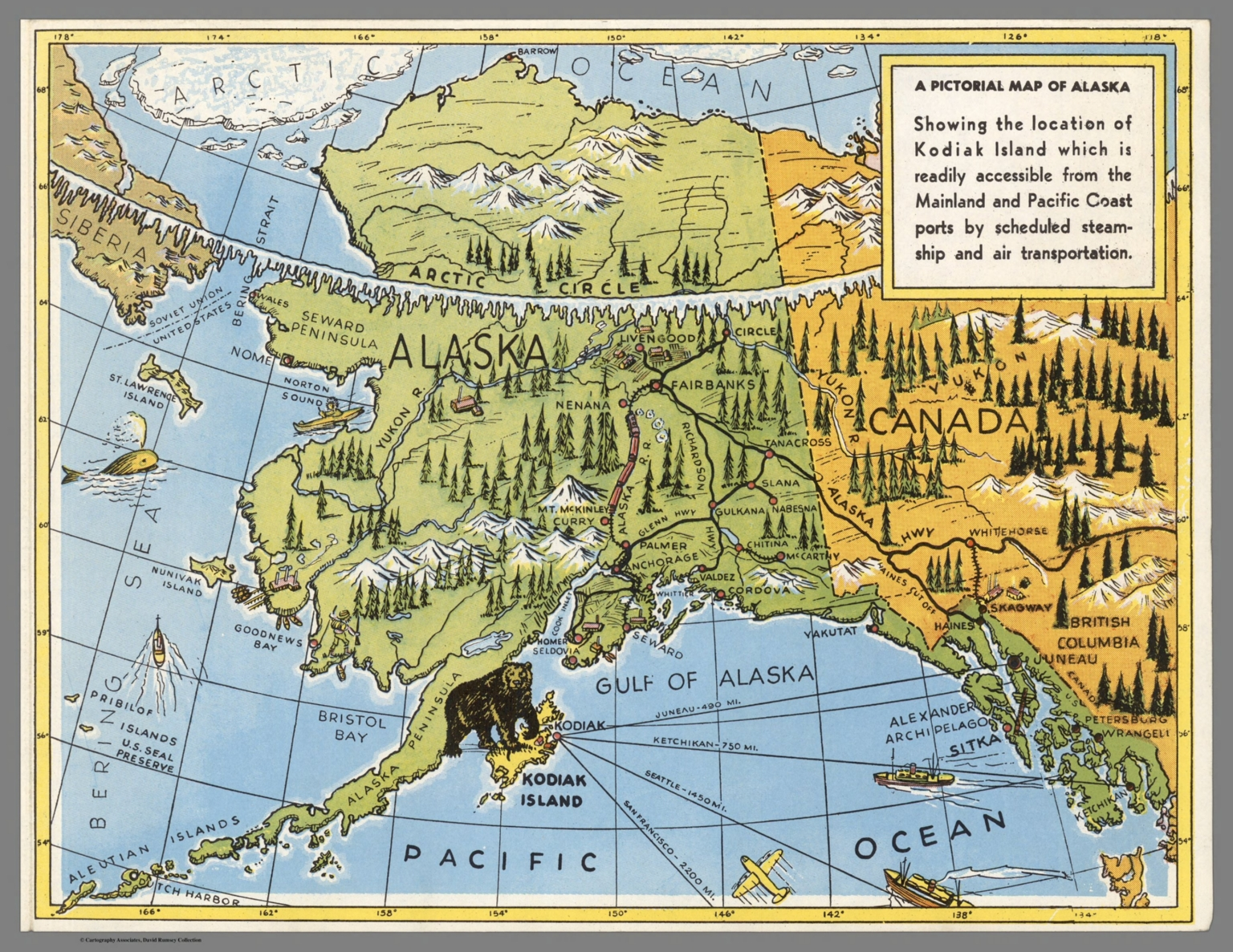Pictorial Map of Alaska. - David Rumsey Historical Map Collection