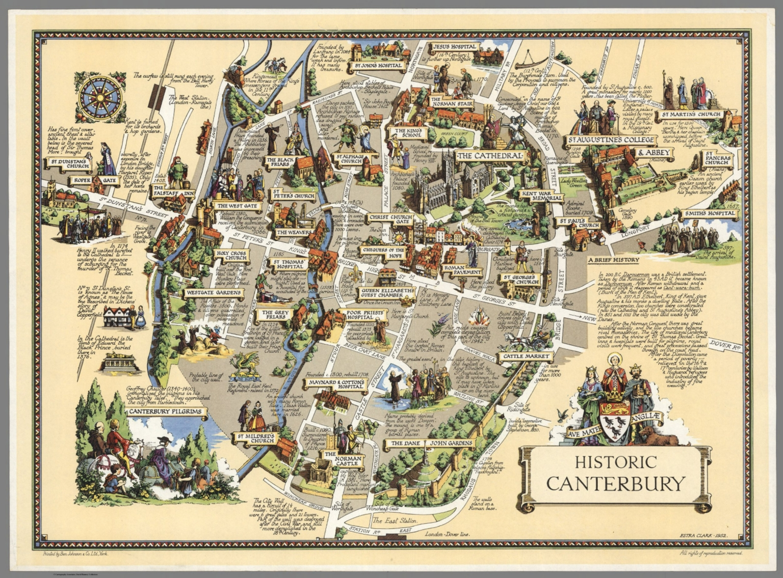 Historic Canterbury David Rumsey Historical Map Collection