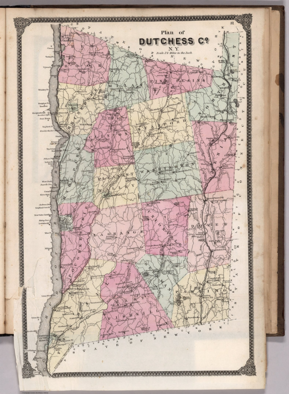 Plan of Dutchess County, New York.