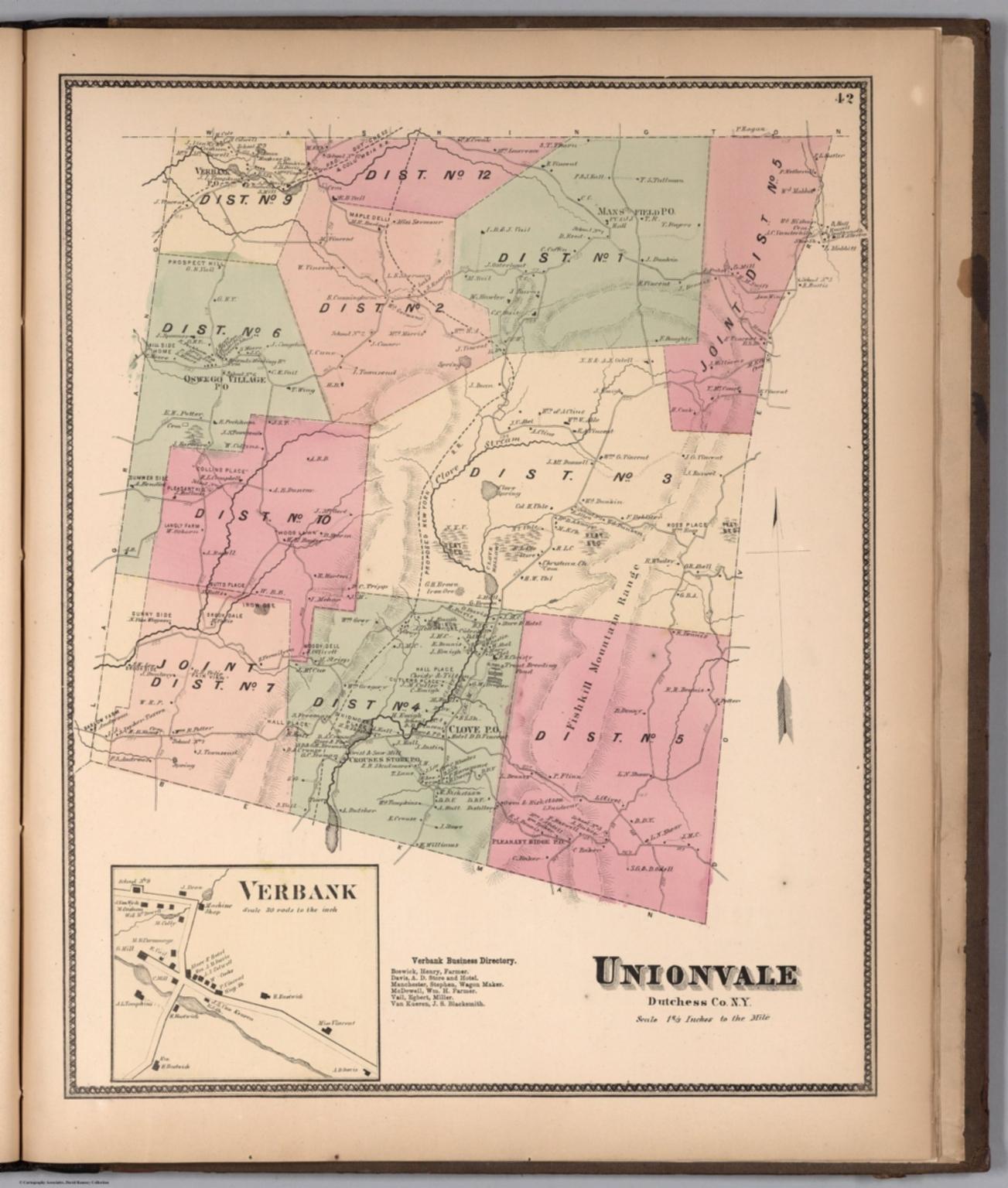 Unionvale, Dutchess County, New York. (inset) Verbank. - David ...