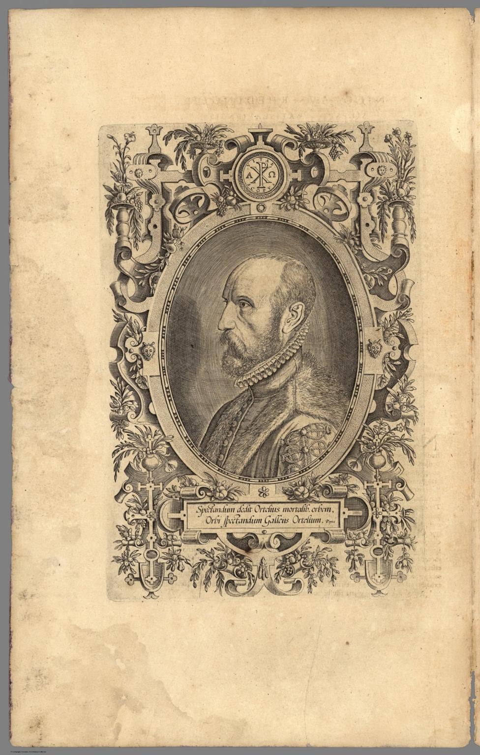 (Engraved Portrait of Ortelius)