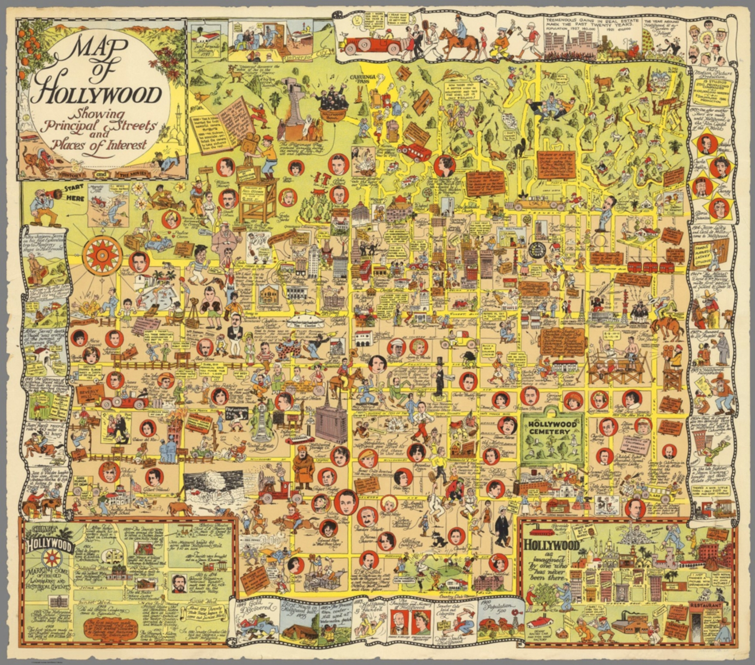 map of hollywood. map of hollywood  david rumsey historical map collection
