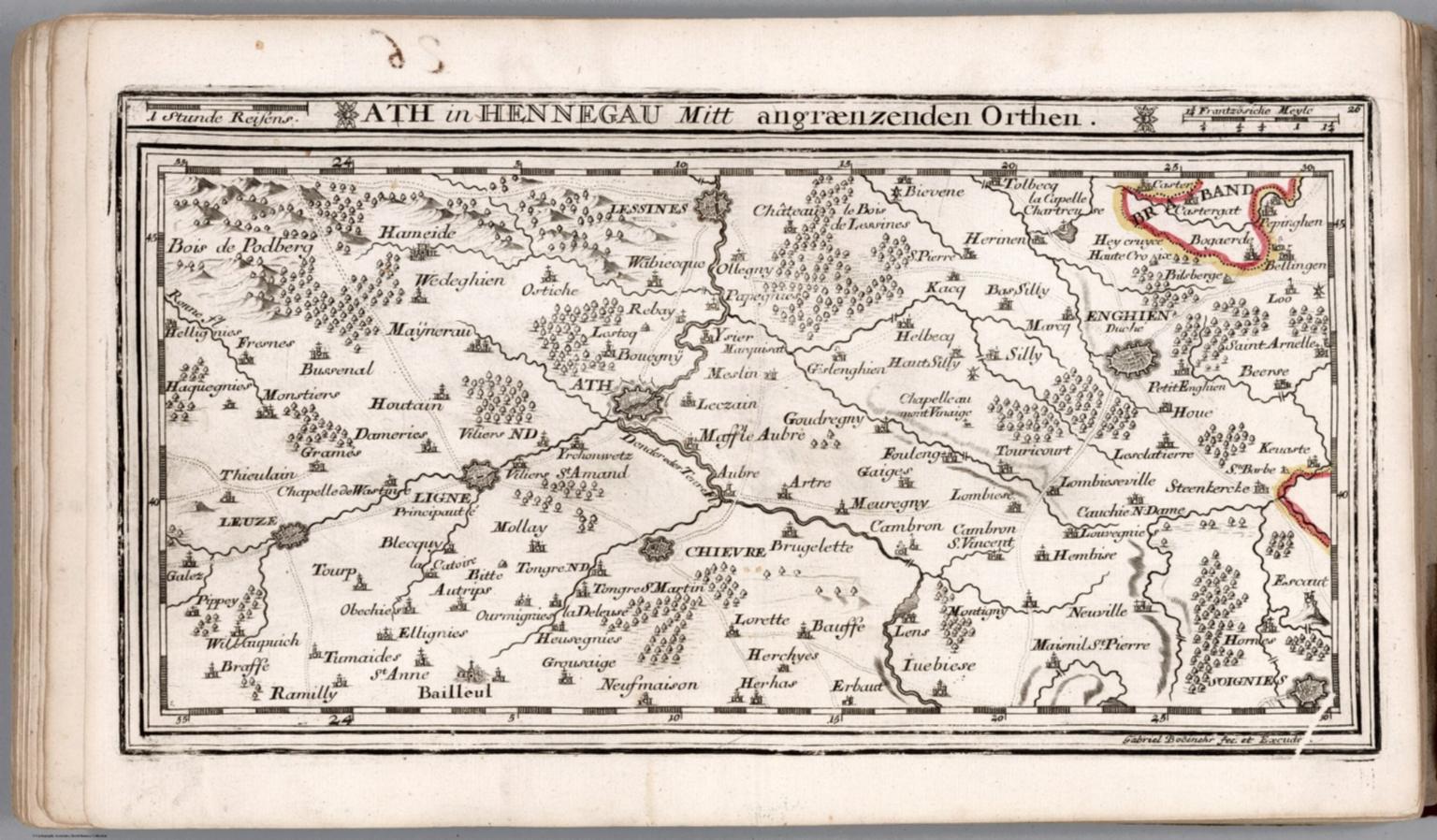 Ath in Hennegau Mitt angraenzenden Orthen David Rumsey Historical