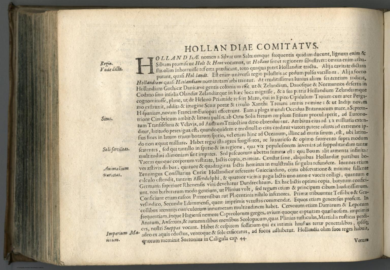 Text Page: Hollandiae Comitatvs