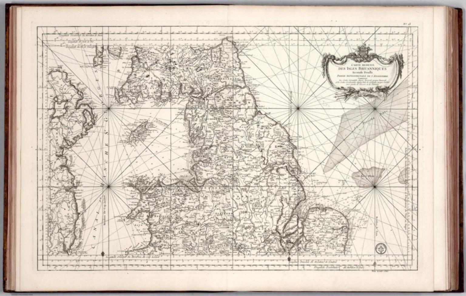 Carte Reduite des Isles Britanniques Second Feuille Partie Septentrionale de l'Angleterre.