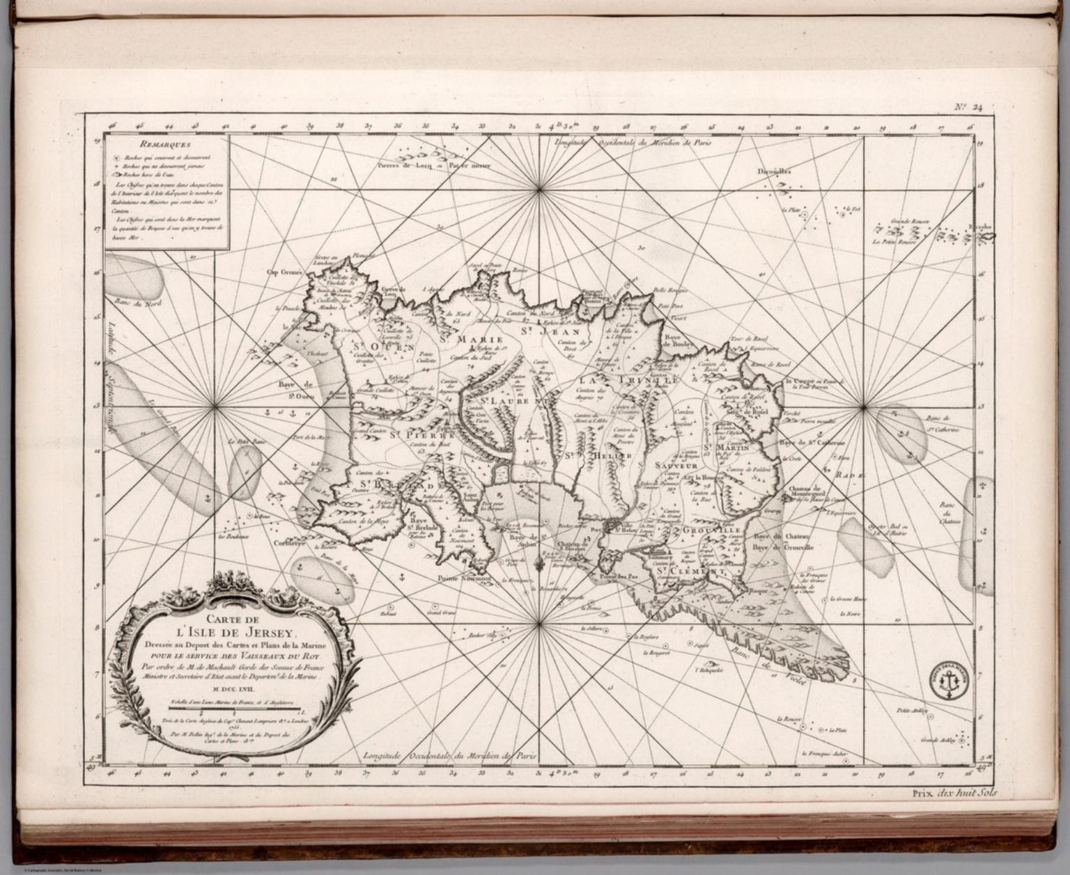 Carte de l'Isle de Jersey.