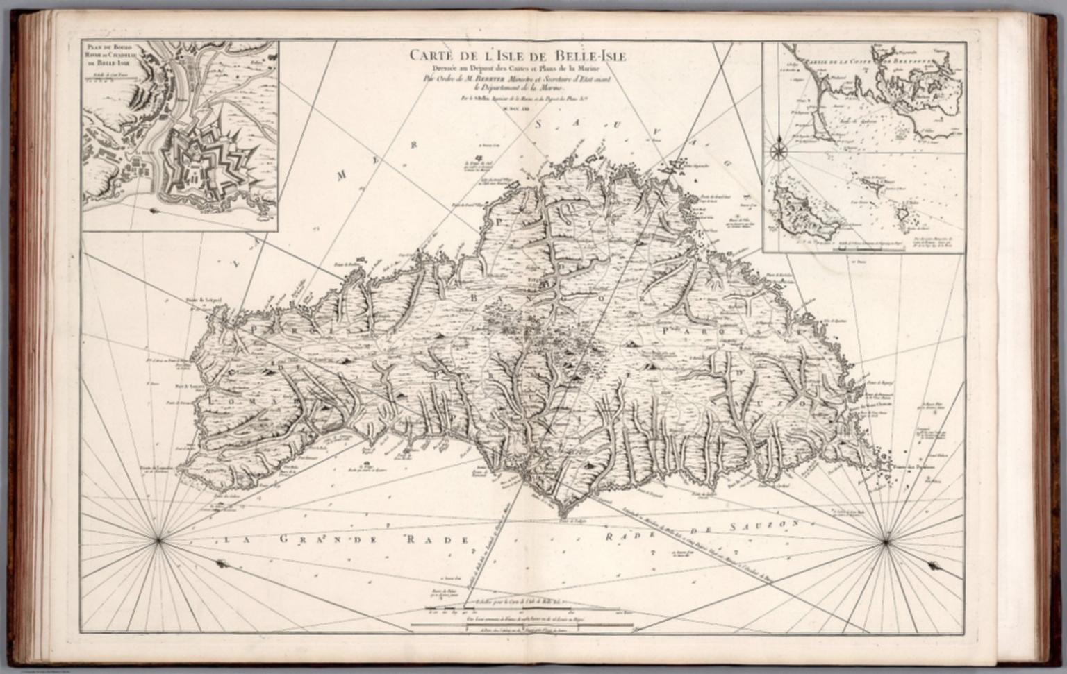 Carte De Lasie Test.Carte De L Isle De Belle Isle David Rumsey Historical Map