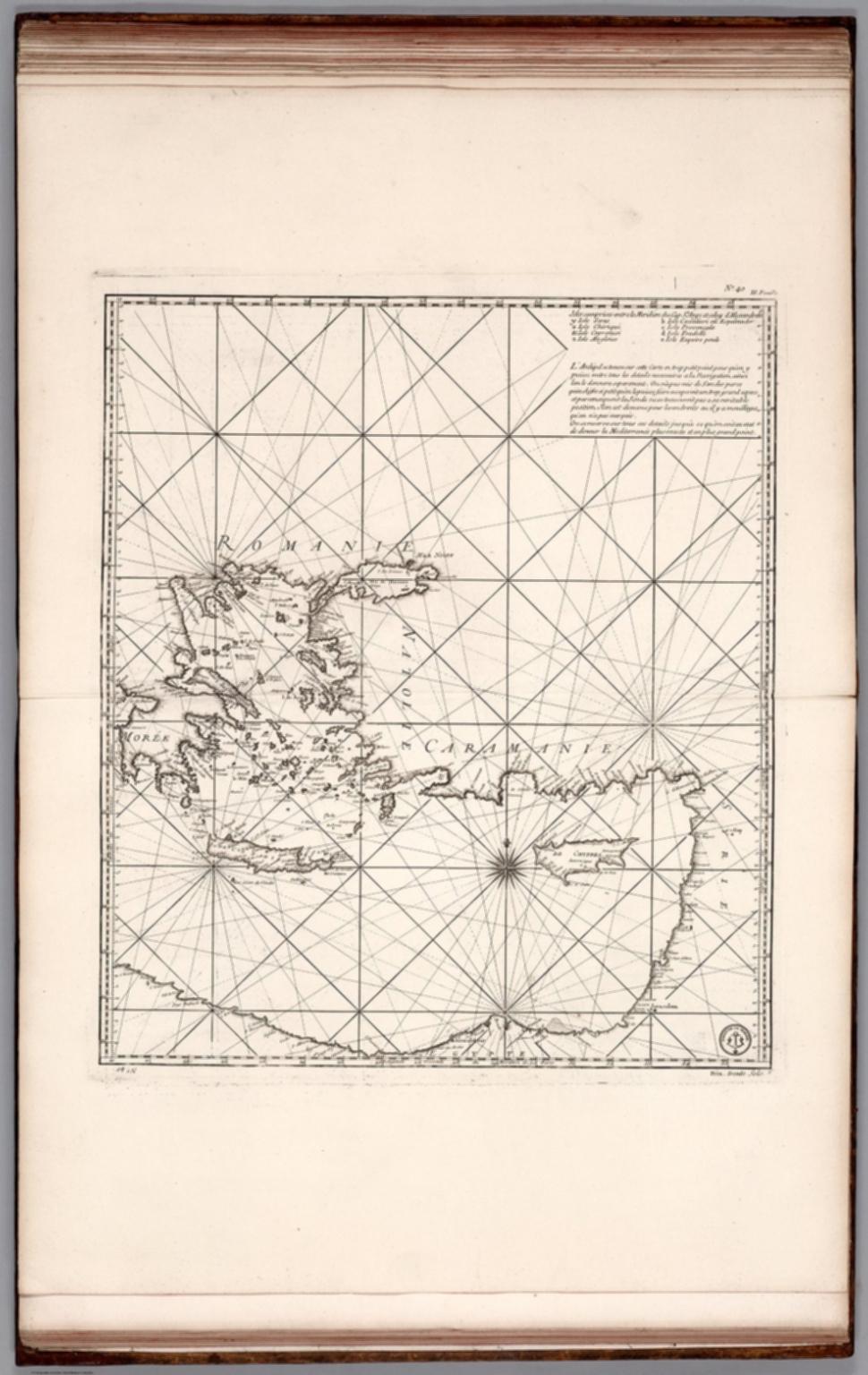 Carte Reduite de la Mer Mediterranee (eastern sheet).