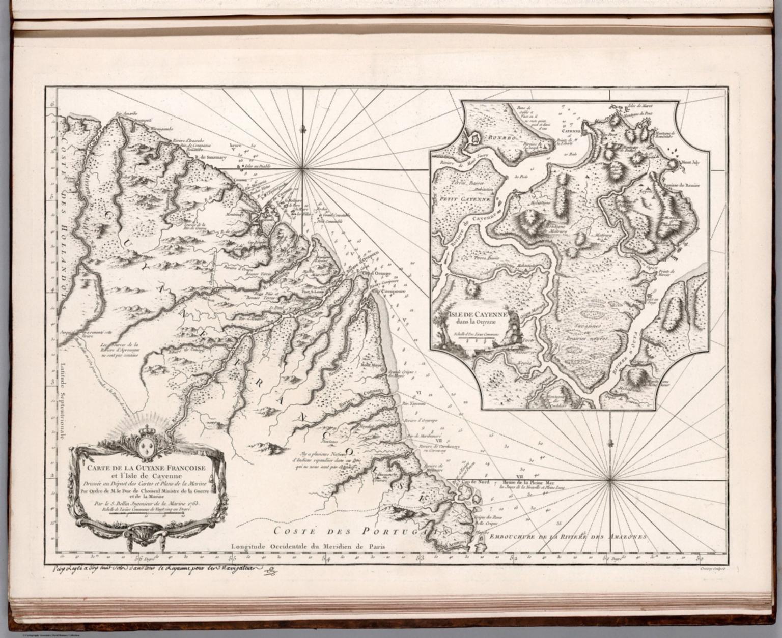 Carte de la Guyane Francoise et l'Isle de Cayenne.