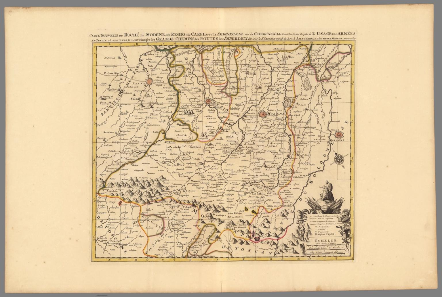 Carte Nouvelle du Duche de Modene de Regio et de Carpi David