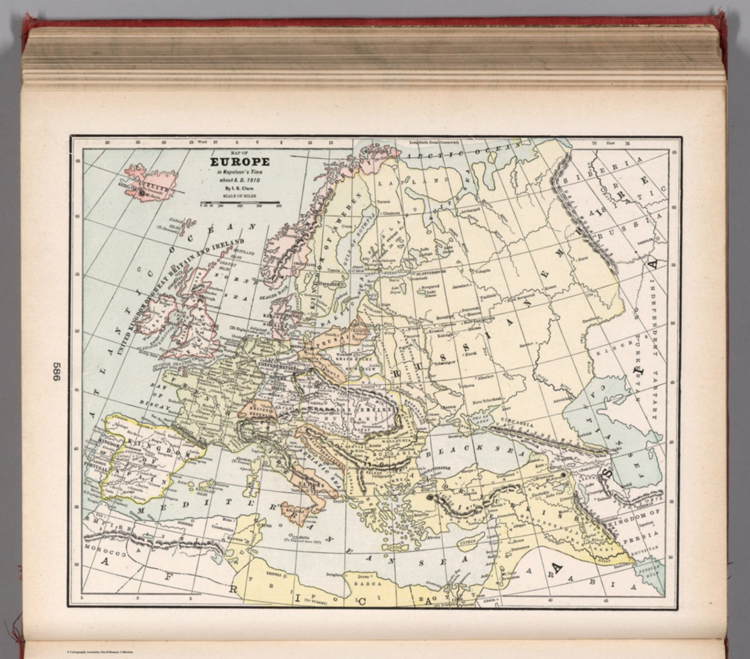 Map Of Europe In Napoleon S Time About A D 1810 David Rumsey