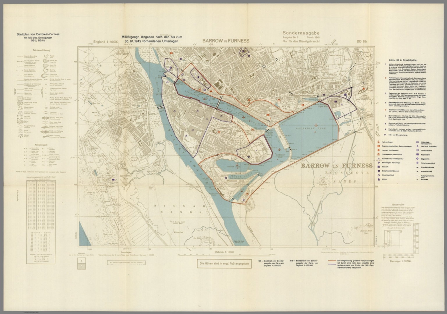 Geographic Map Of England.Street Map Of Barrow In Furness England With Military Geographic