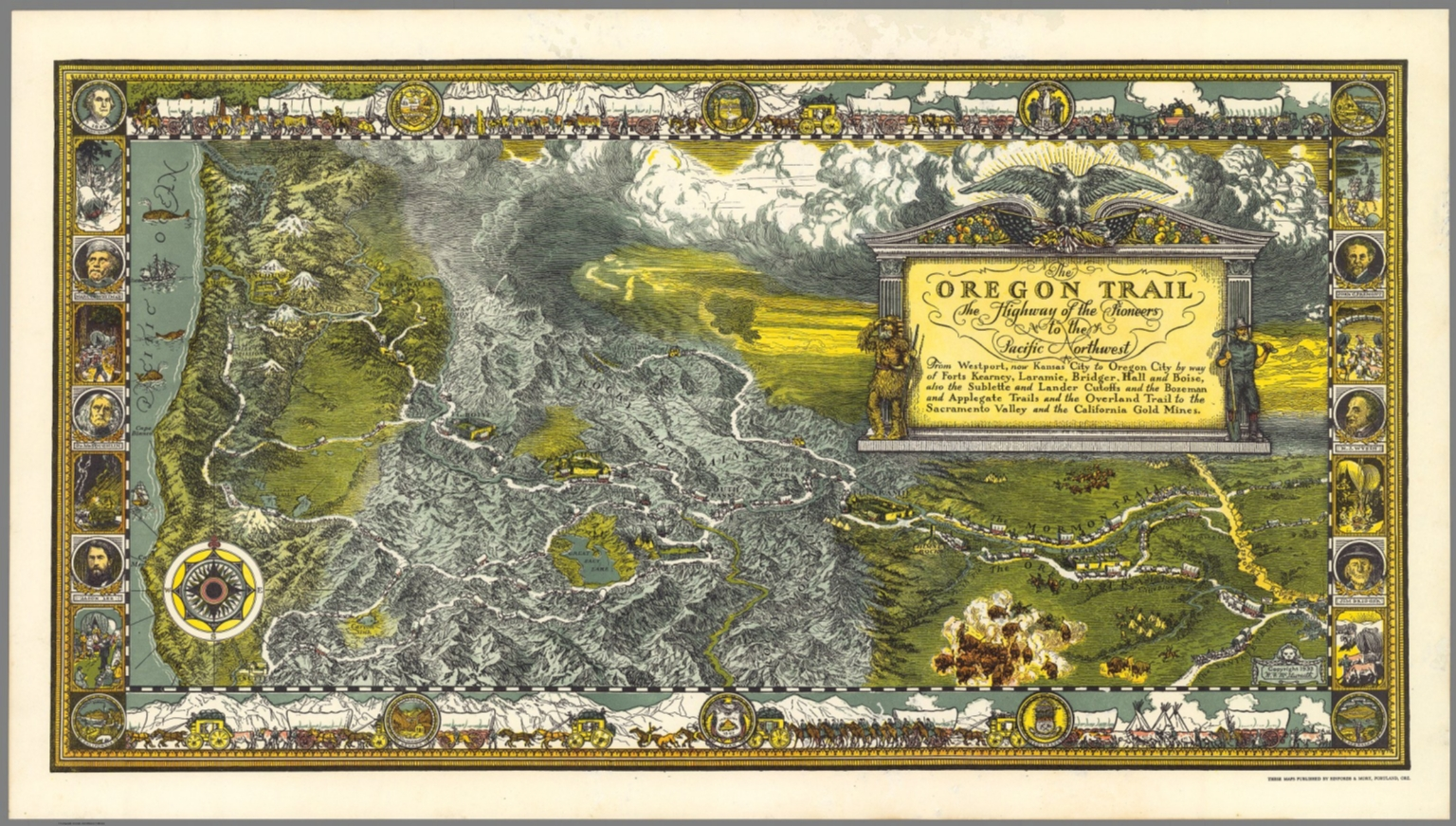 photograph regarding Oregon Trail Map Printable known as The Oregon Path. - David Rumsey Ancient Map Variety