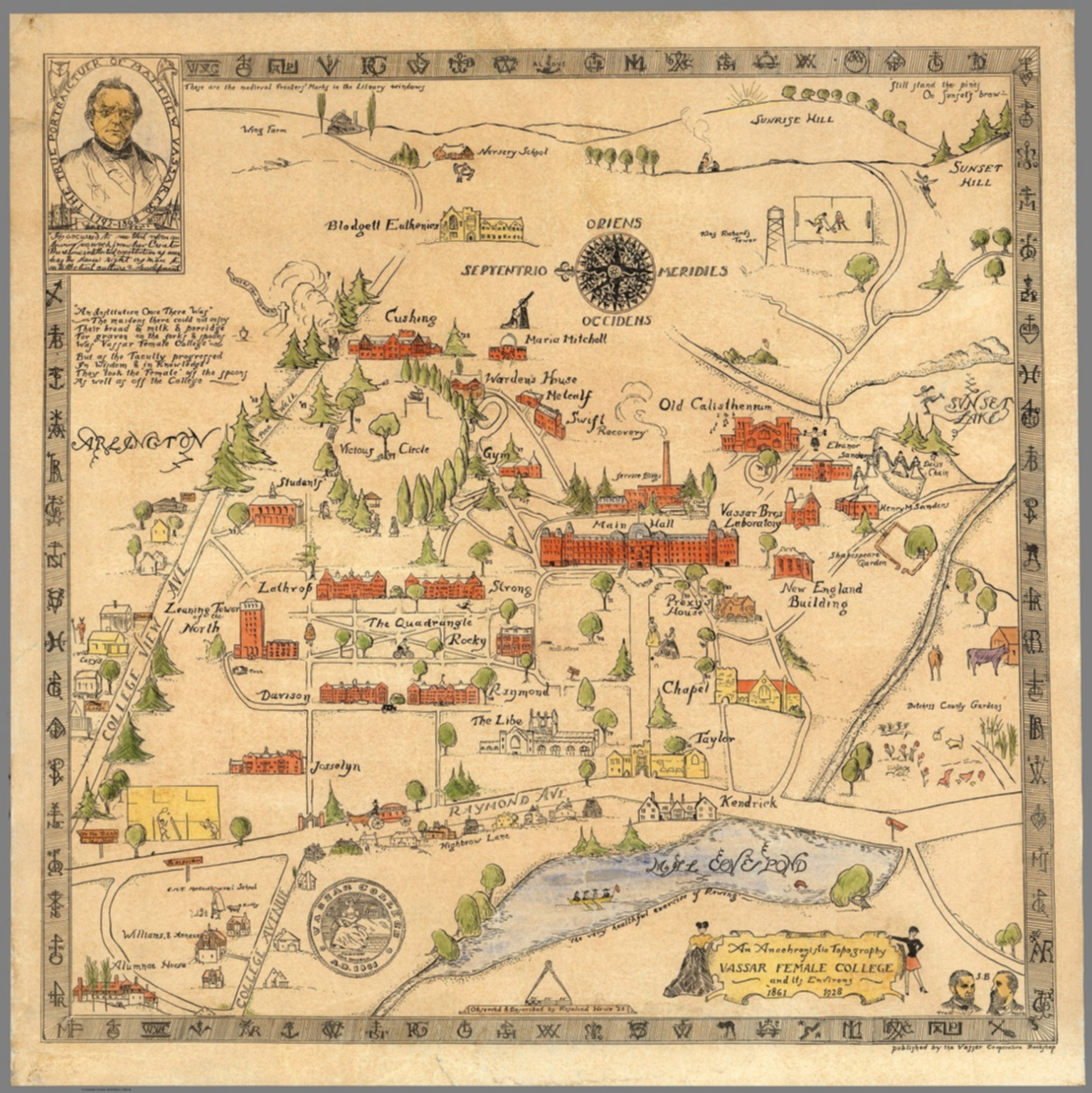 An Anachronistic topography of Vassar Female College and its ...