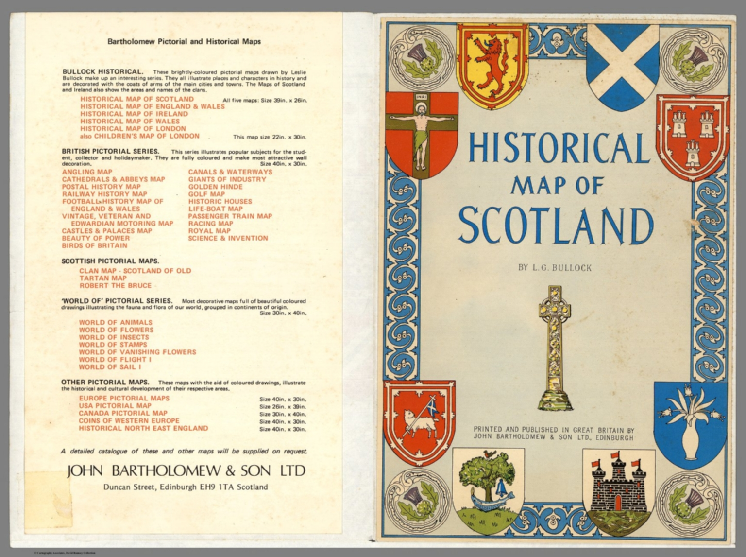 Covers: Historical Scotland  by L G  Bullock - David Rumsey