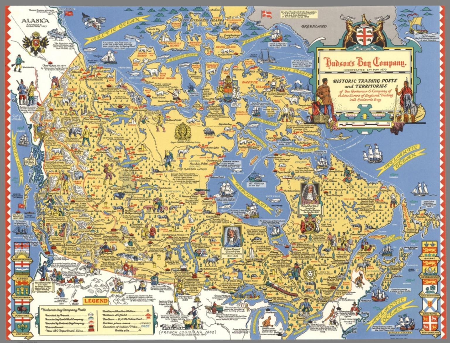 Hudsons Bay Company Historic trading posts David Rumsey