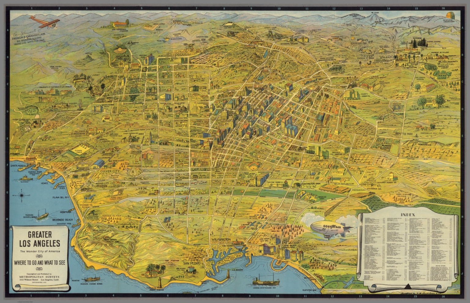 Map Of America Los Angeles.Greater Los Angeles The Wonder City Of America Where To Go And