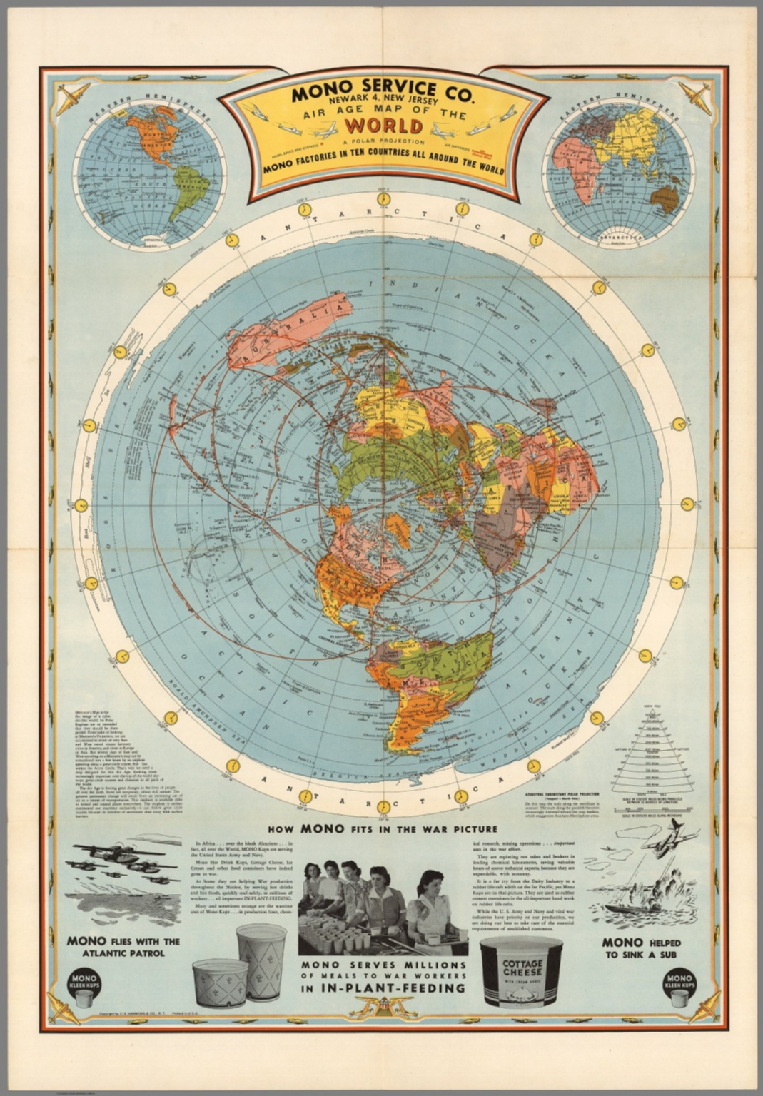 Air Age Map of the World. A Polar Projection. - David Rumsey ...