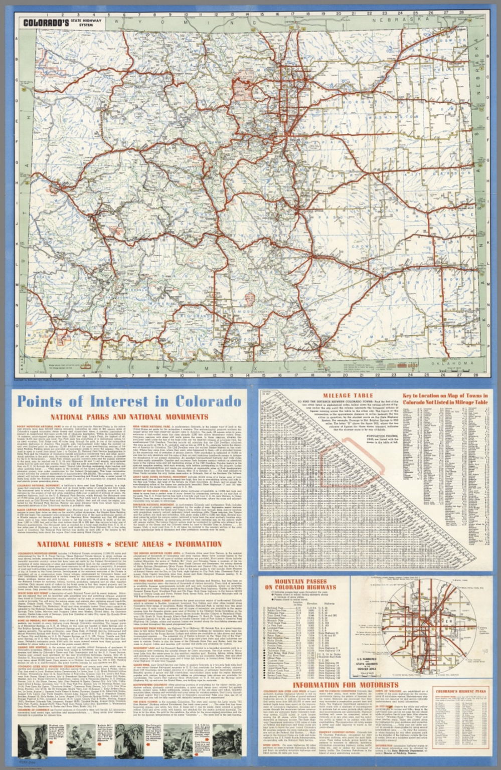 Colorado\'s State Highway System. - David Rumsey Historical Map ...