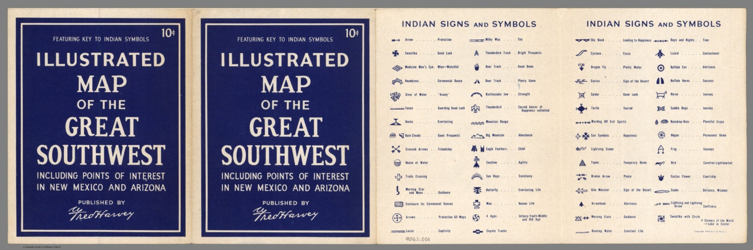Covers Illustrated Map Of The Great Southwest Text Indian Signs