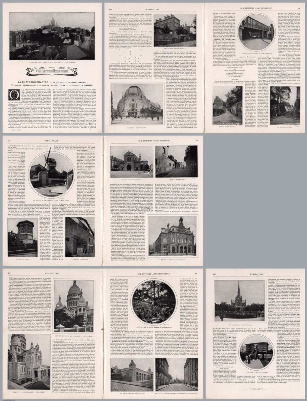 Composite Text: Paris - XVIIIe arrondissement.