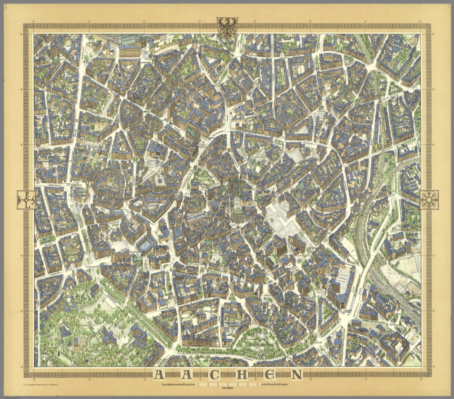 Aachen Germany David Rumsey Historical Map Collection