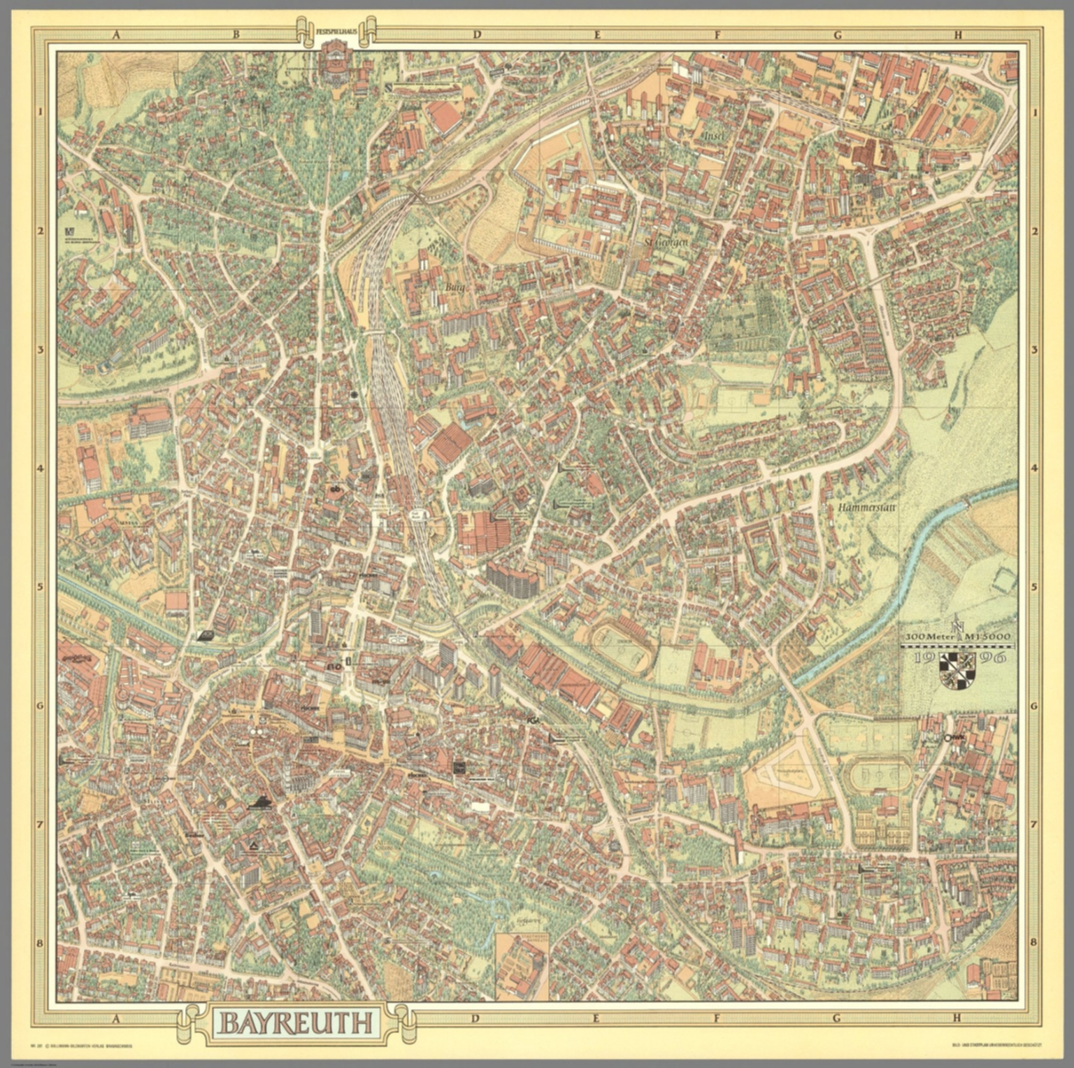 Bayreuth Germany David Rumsey Historical Map Collection