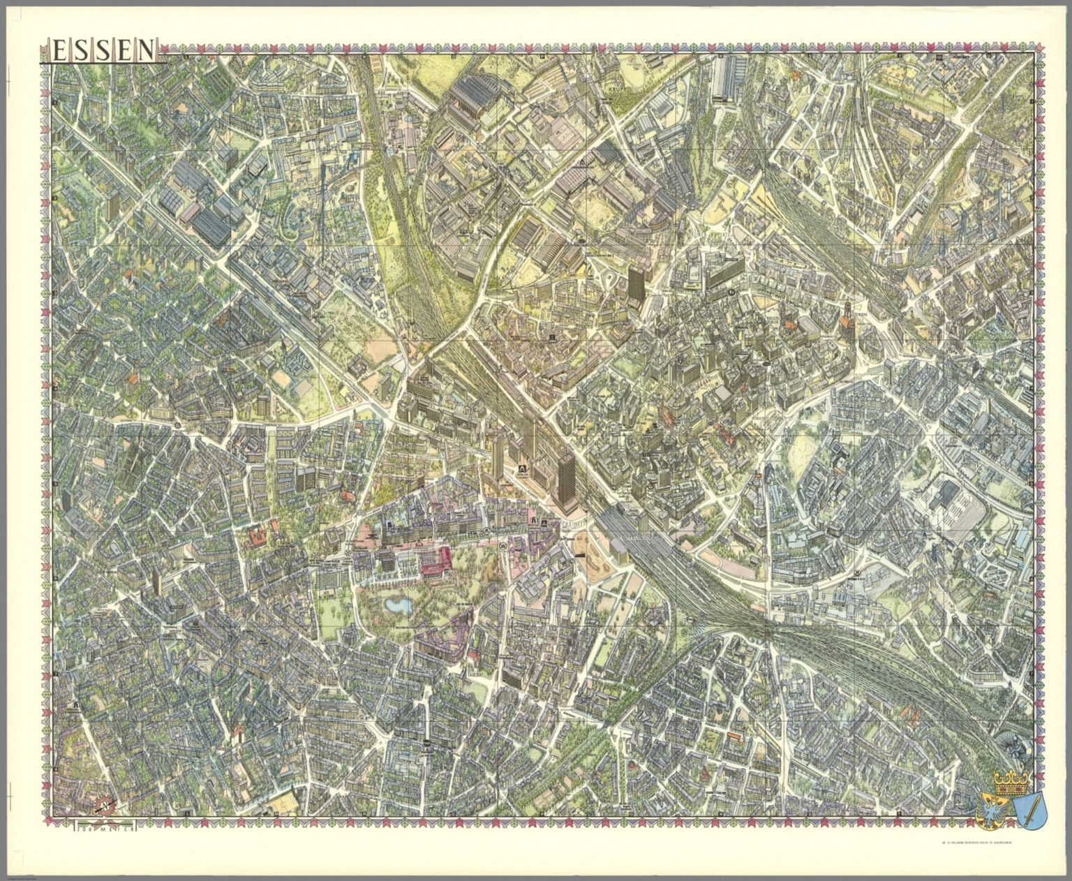 Map Of Germany Essen.Essen Germany David Rumsey Historical Map Collection