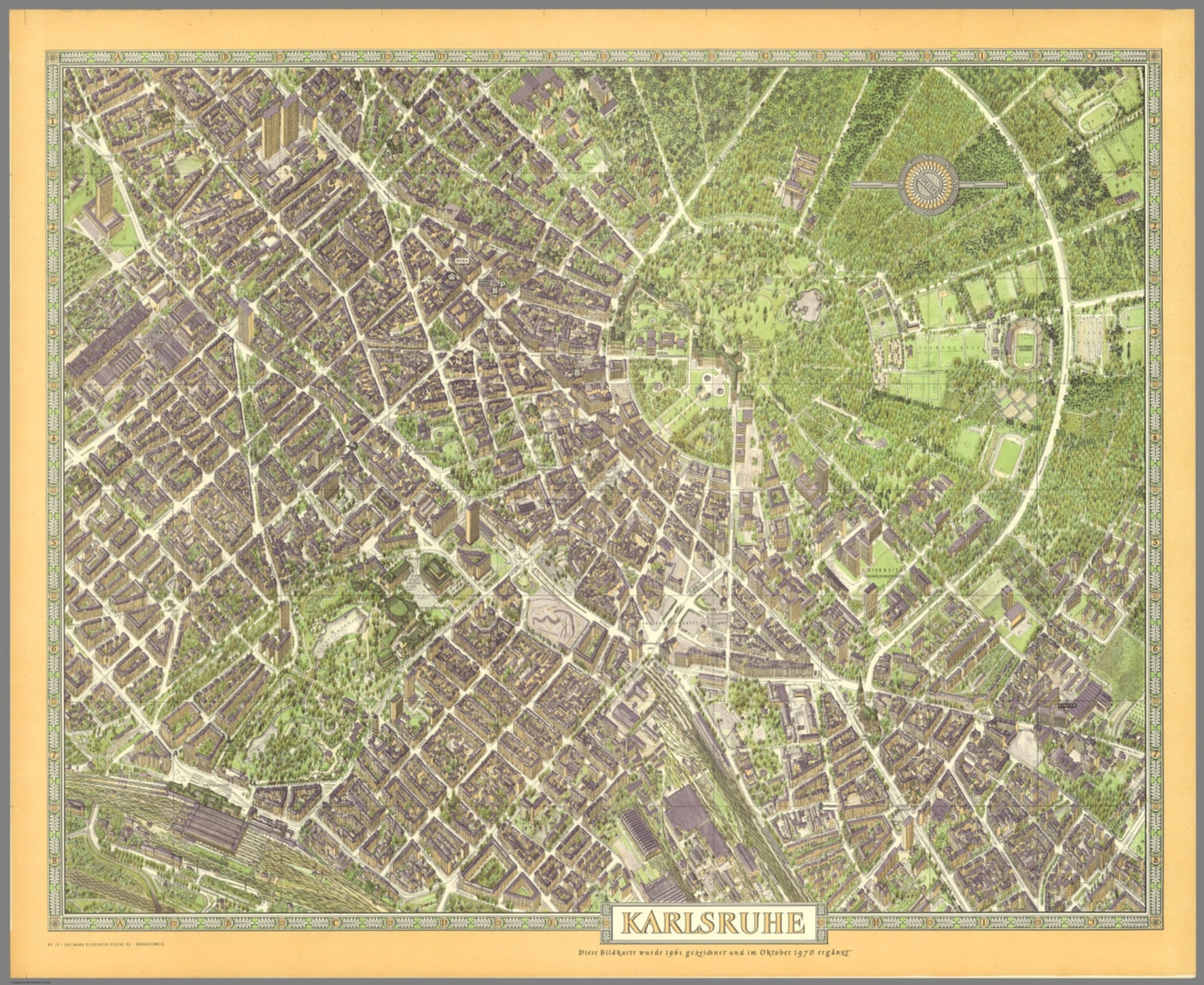 Karlsruhe Map Of Germany.Karlsruhe Germany David Rumsey Historical Map Collection