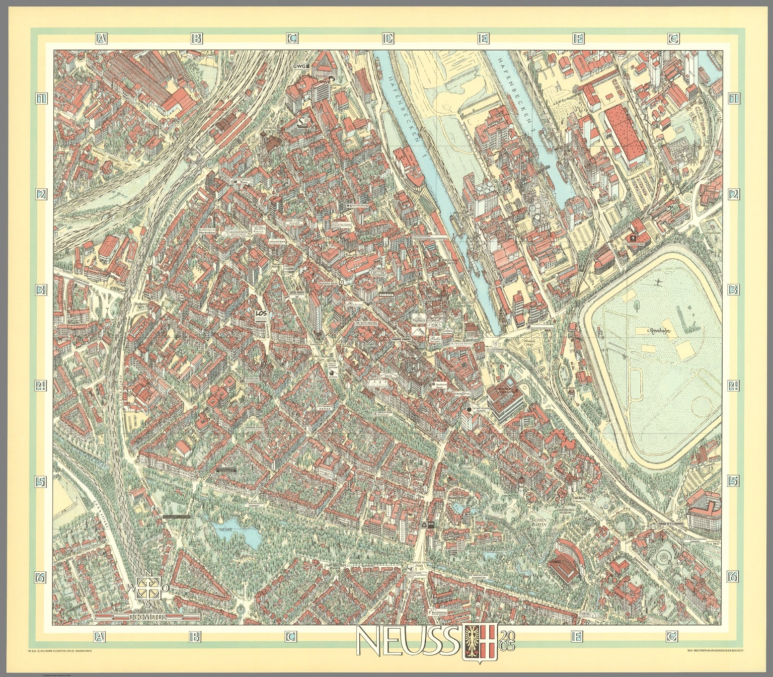 Neuss Germany David Rumsey Historical Map Collection
