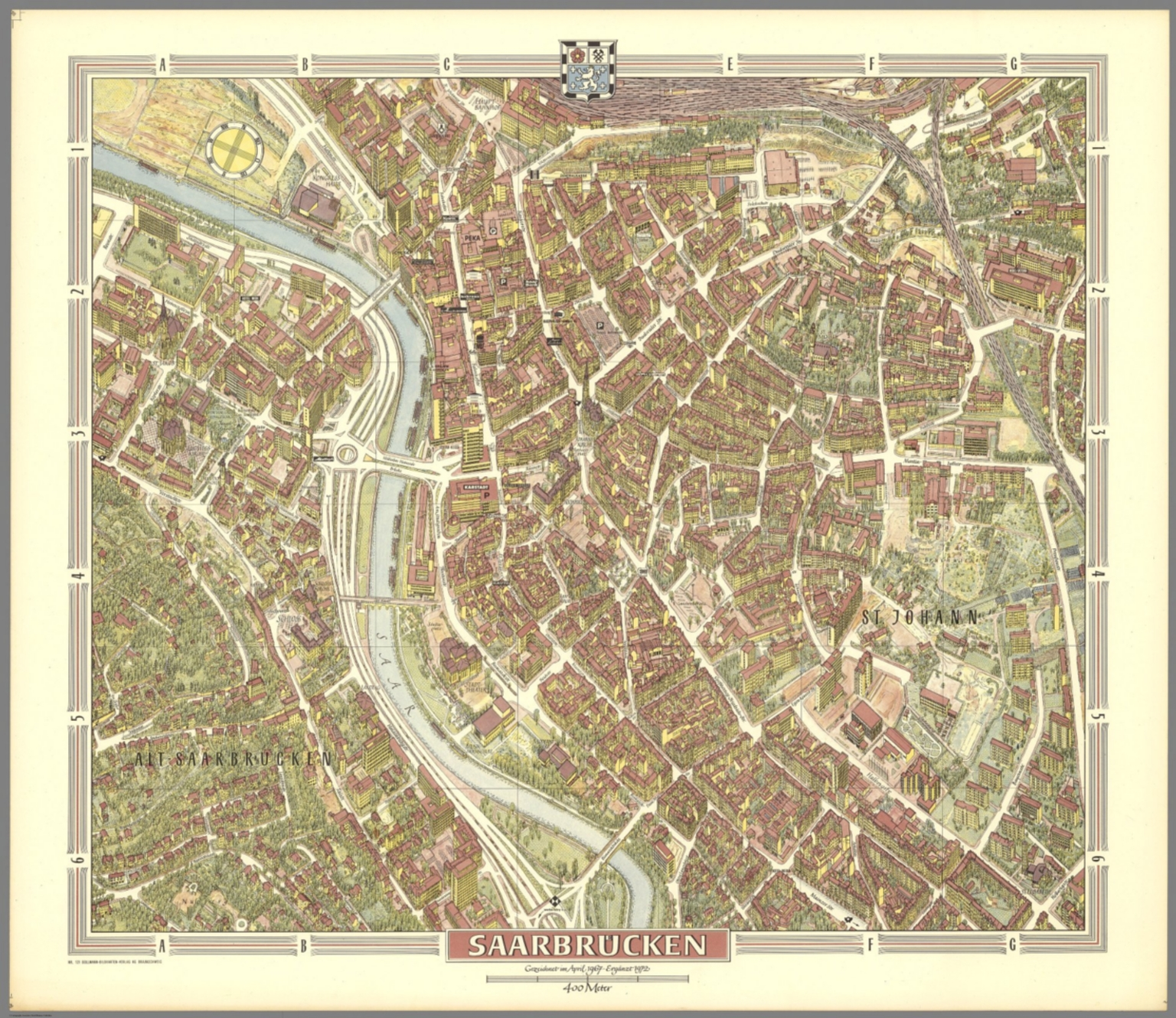 Saarbrucken Germany Map.Saarbruecken Germany David Rumsey Historical Map Collection