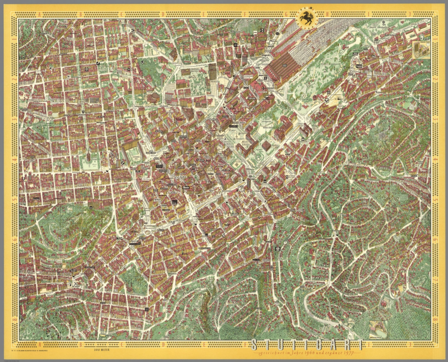 Stuttgart Germany David Rumsey Historical Map Collection