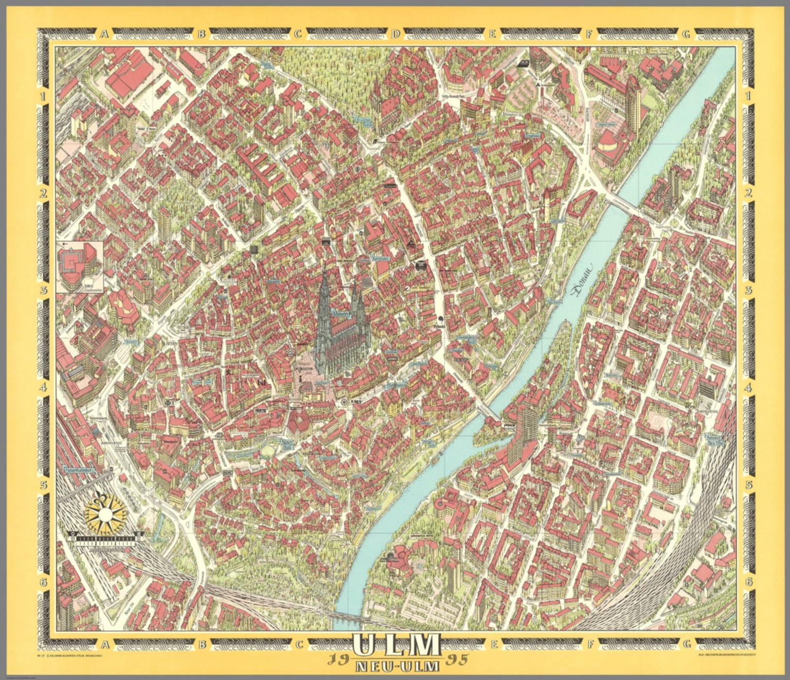 Map Of Germany Ulm.Ulm Germany David Rumsey Historical Map Collection