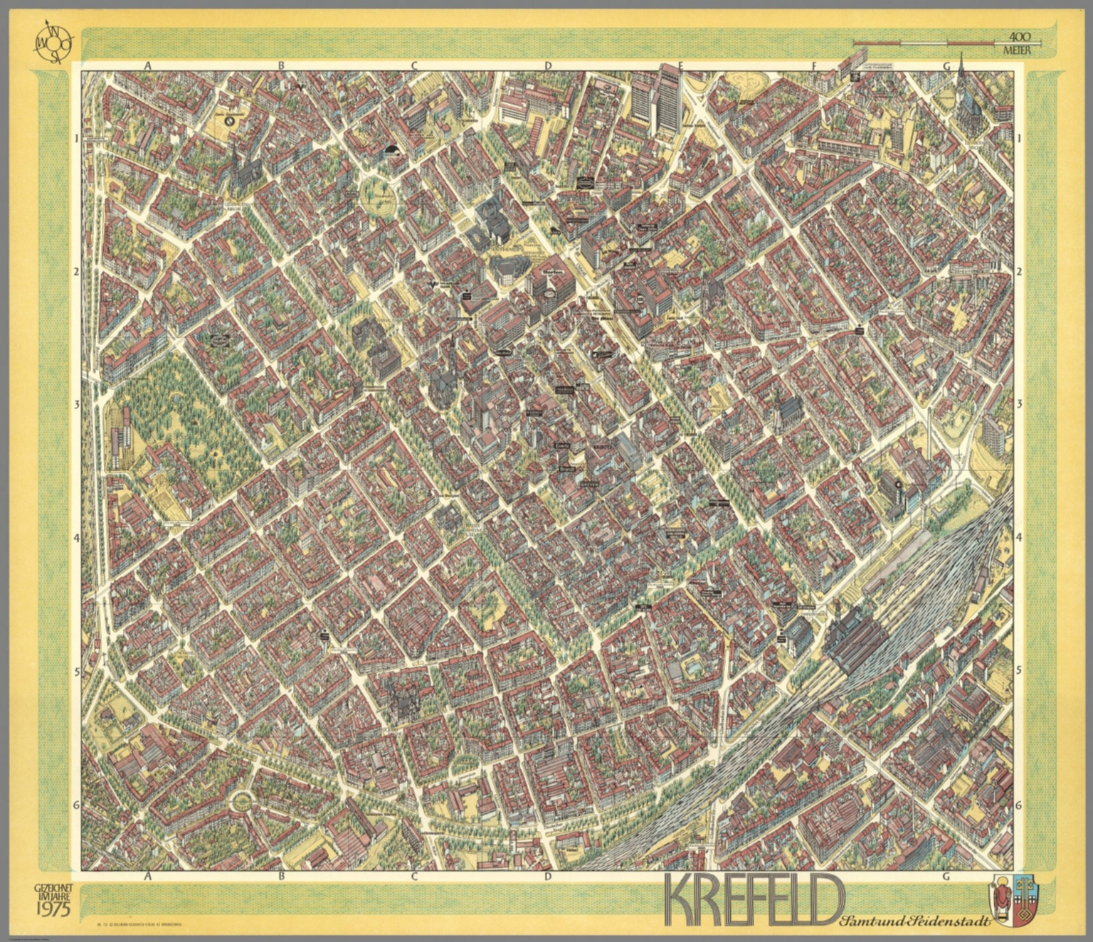 Krefeld Germany David Rumsey Historical Map Collection