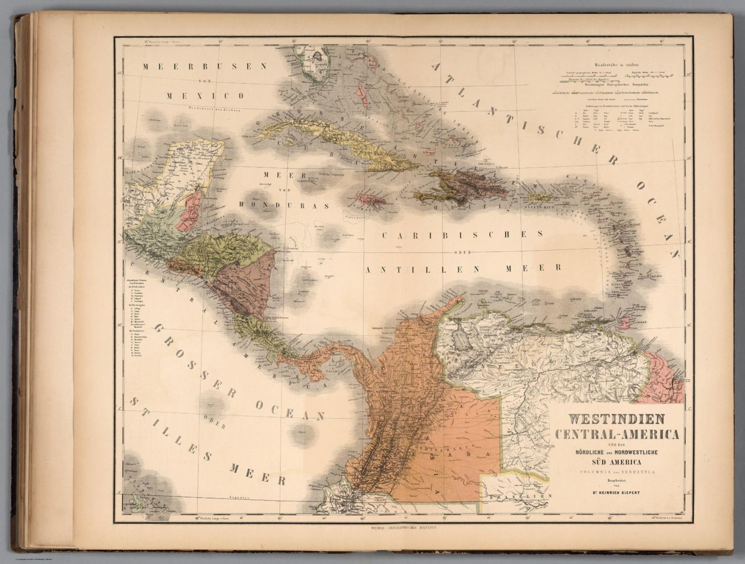 West Ins. Central America. Colombia. Venezuela. - David ... Map Of Central America Venezuela on america map panama, america map colorado, america map grenada, america map spain, america map mississippi, america map el salvador, america map uruguay, america map arizona, america map italy, america map brazil, america map jamaica, america map bahamas, america map georgia, america map texas, america map honduras, america map north america, america map philippines, america map canada,