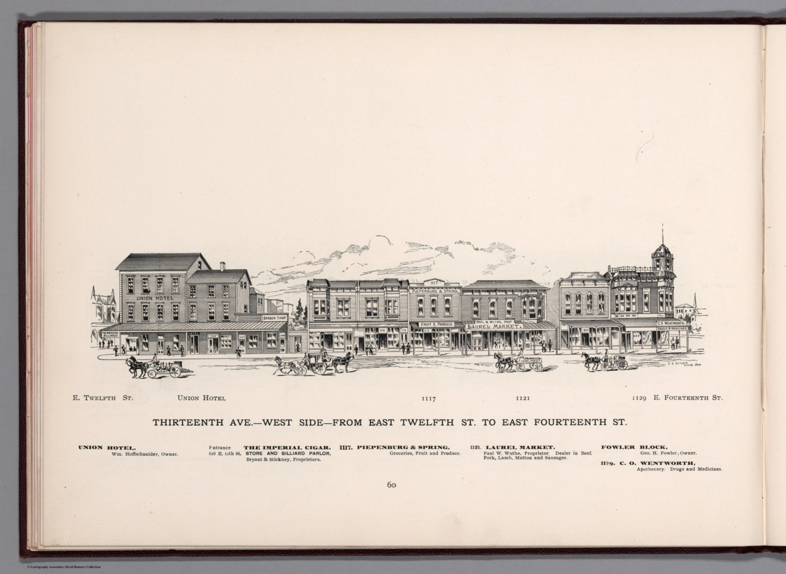 View: Thirteenth Ave. - West Side - from East Twelfth St. to East Fourteenth St.