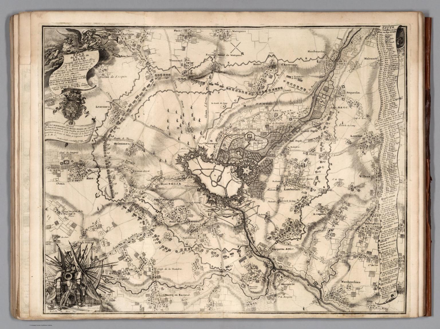 36. Plan du Siege de Lille, Belgium. 1708.