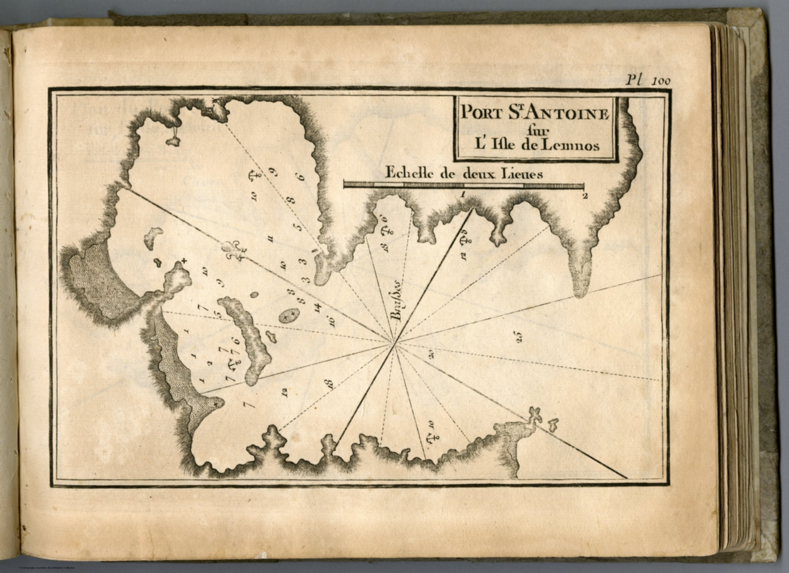 Lemnos Greece Map.Pl 100 Moudros Lemnos Island Greece David Rumsey Historical