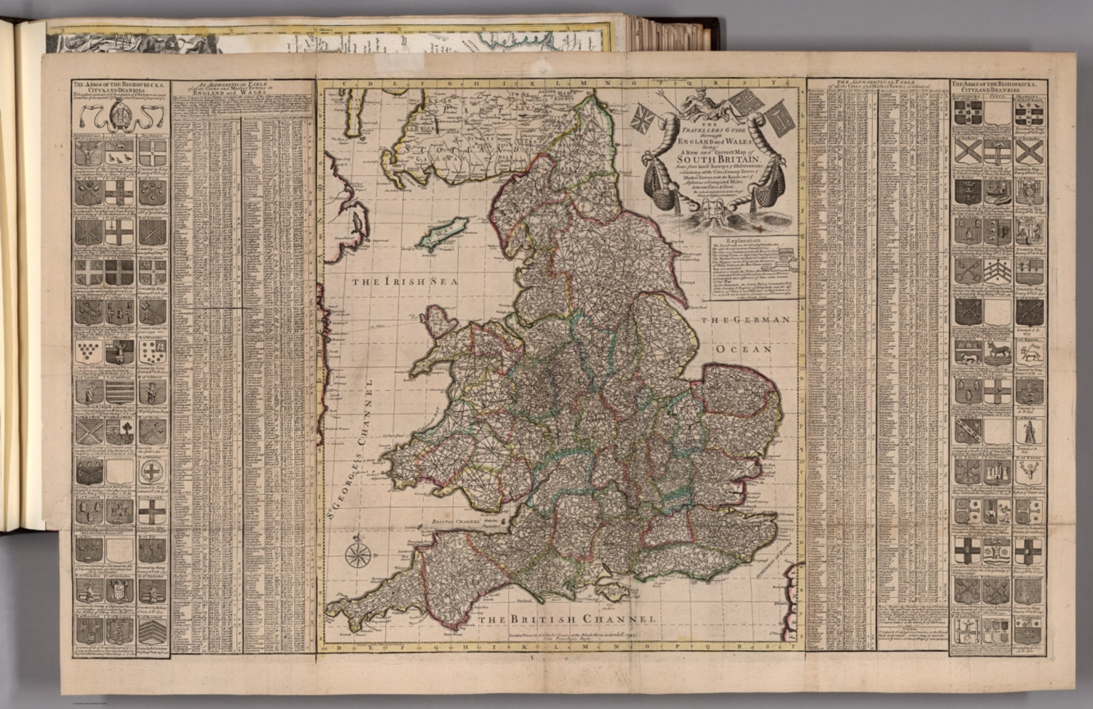 The Travellers Guide thorough England and Wales.
