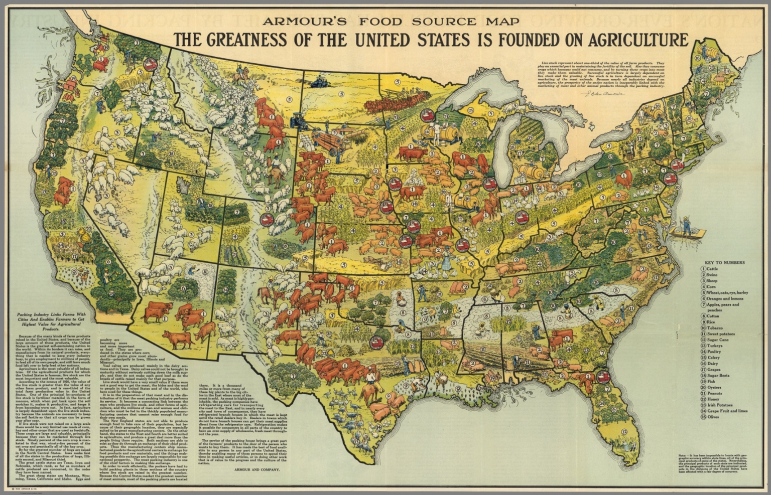 Armours food source map david rumsey historical map collection armours food source map sciox Gallery