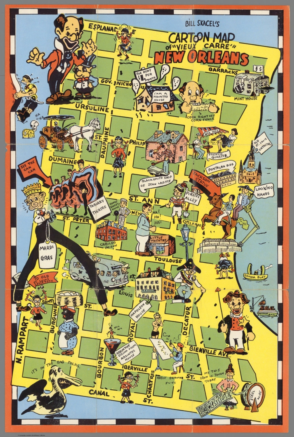 photo about Printable Maps of New Orleans identify Monthly bill Skacels cartoon map of \