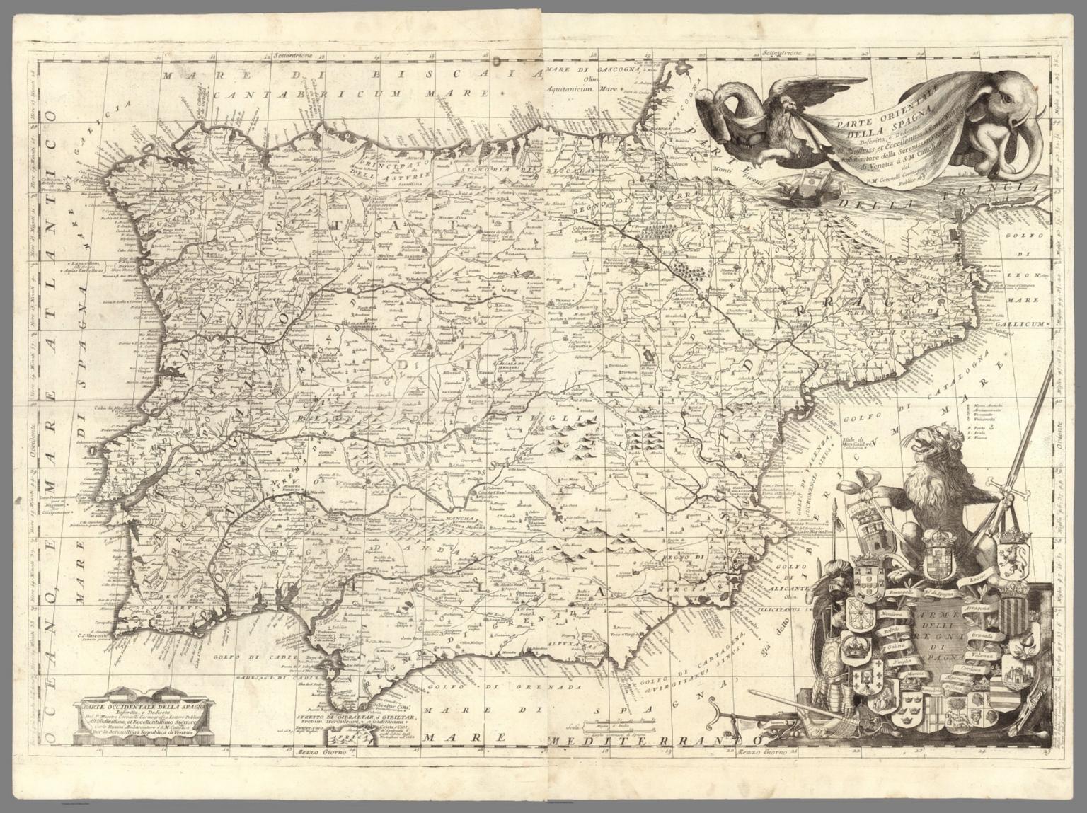 Composite: Parte orientale della Spagna. Parte occidentale della Spagna