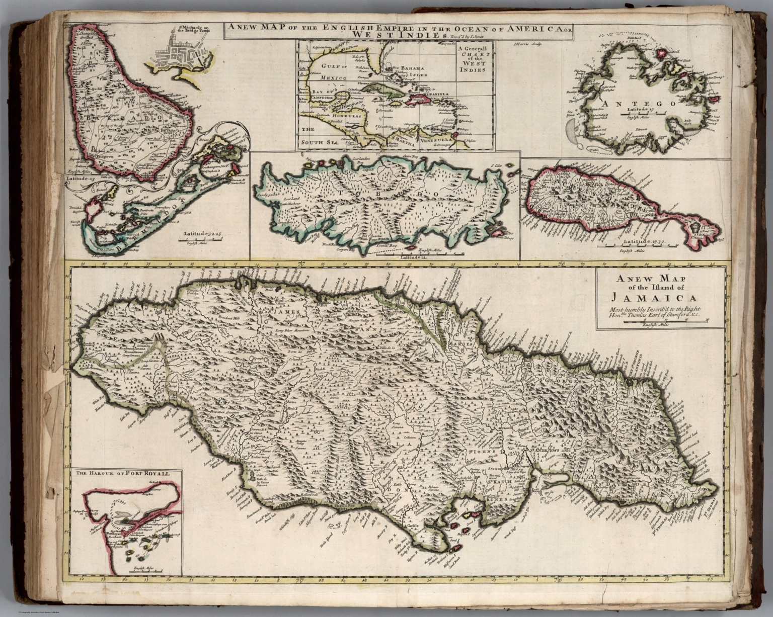 New Map of the English Empire in the Ocean of America or West Indies.