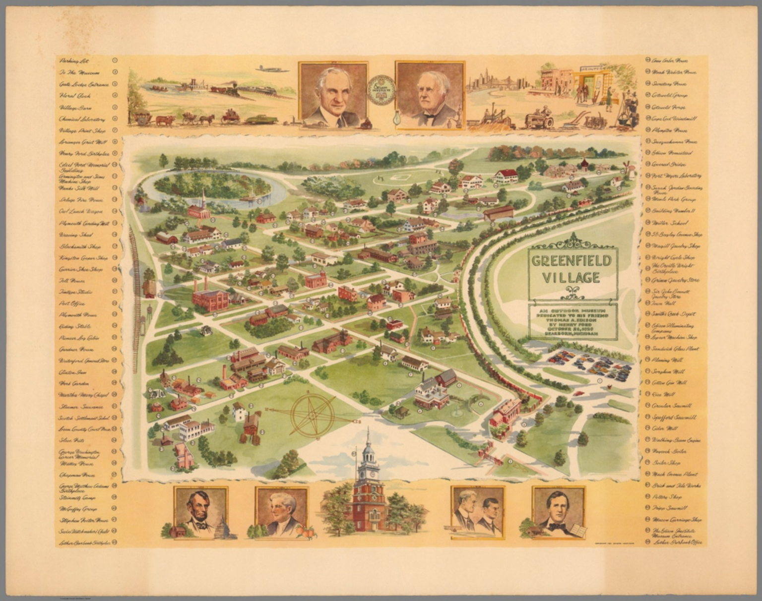 Greenfield Village Map Greenfield Village : an outdoor museum   David Rumsey Historical  Greenfield Village Map