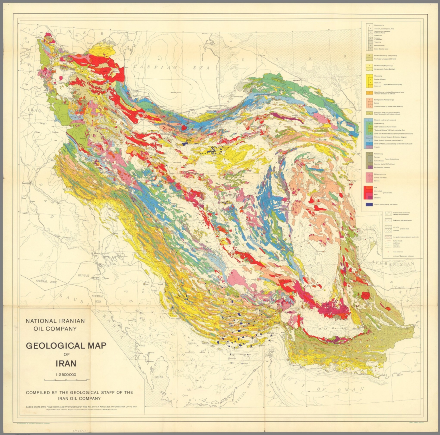 geological map of iran 12500000