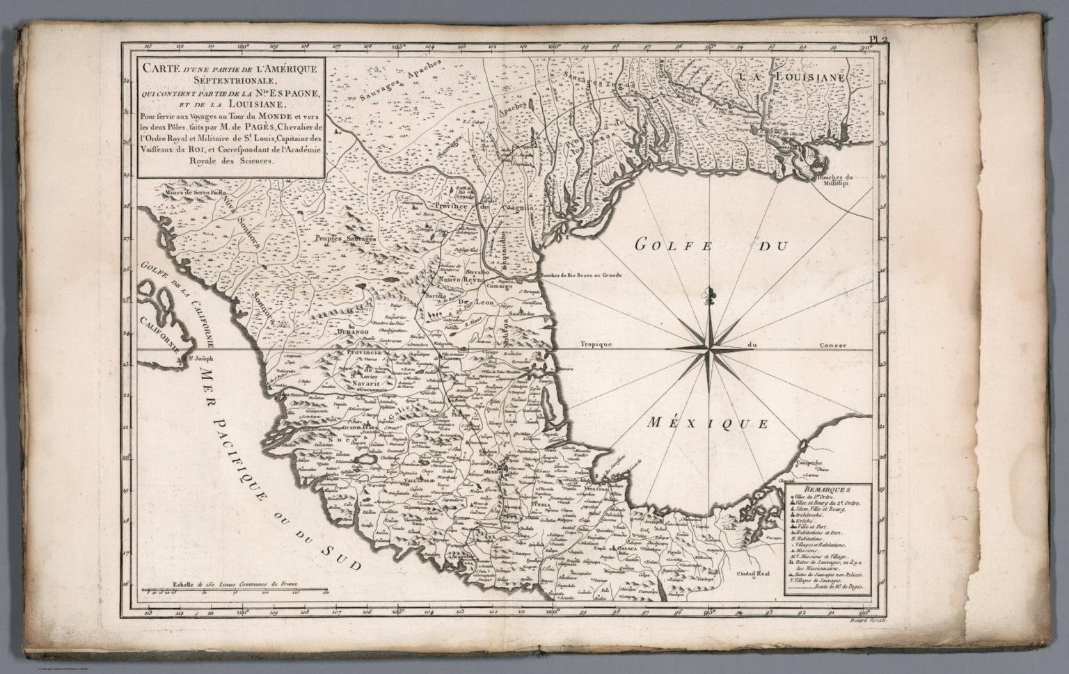 Carte d'une partie de l'Amerique Septentrionale