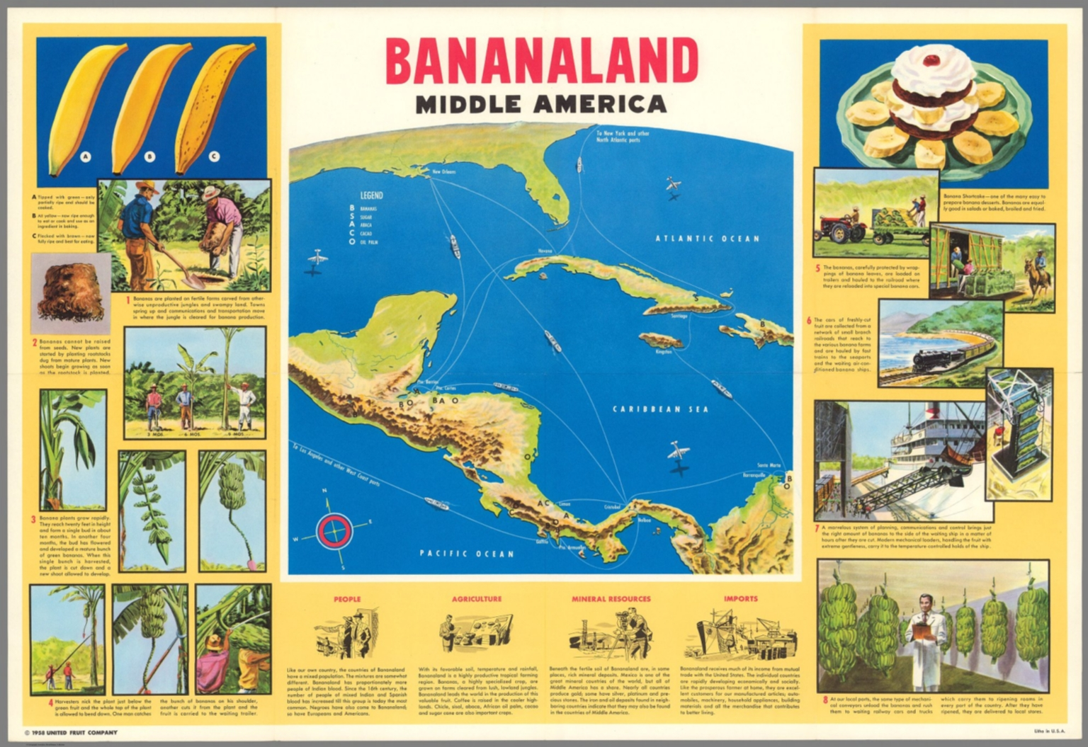Bananaland : Middle America - David Rumsey Historical Map Collection