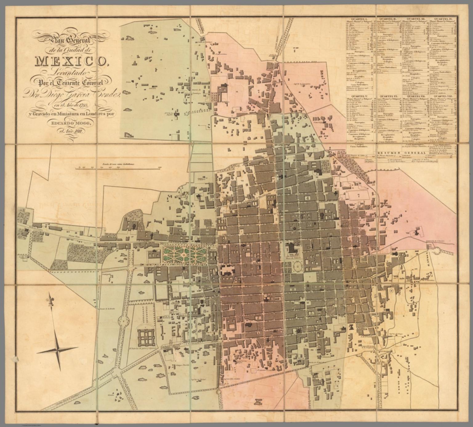 Plan general de la Ciudad de Mexico